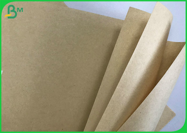 Recycled & Virgin Pulp Kraft Liner Paper Brown 50g - 300g for Wrapping Bags / Box