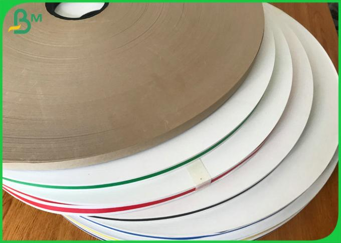 15mm width 60gsm Pure Color Roll White Kraft Paper For Drinking Paper Straw Tube